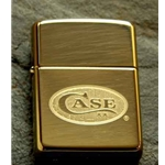 Case Solid Brass Heavy Walled Armor Lighter