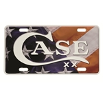 Case and Flag License Plate 50128