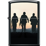 Zippo 3 Soldiers Sunset