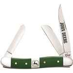 John Deere Green Synthetic Handle Medium Stockman 15763 - Engravable