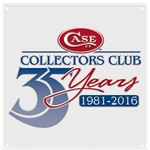 Case Collectors Club 35th Anniversary Tin Sign 27602