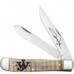 John Wayne Natural Curly Maple Trapper 10708 - Engravable